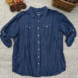 Old Navy Linen Button Down Shirt